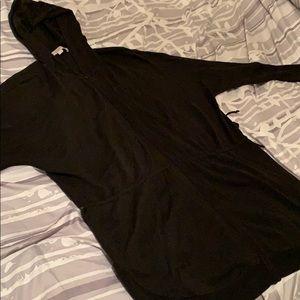 Loft Black Hooded Cardigan- XXL
